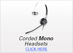 Corded Mono Headsets