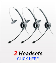 Three Headsets