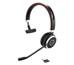 Zoom Headsets jabra evolve 65 mono with link 370 microsoft optimized