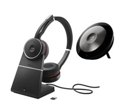 Evolve Wireless Series Jabra GN Netcom Evolve 75 with Charging Stand and Speak 710
