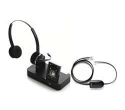 Jabra GN Netcom Stereo Wireless Headsets jabra pro9460 mono with ehs 14201 17 for polycom