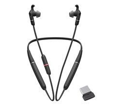 Jabra Bluetooth Headsets jabra evolve 65e ms with link 370 microsoft optimized