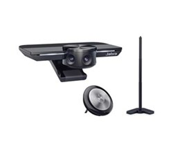 Jabra PanaCast 180 Degree HuddleRoom Camera jabra panacast with table stand and speak 710 ms