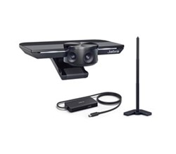 Jabra PanaCast 180 Degree HuddleRoom Camera jabra panacast with table stand and hub